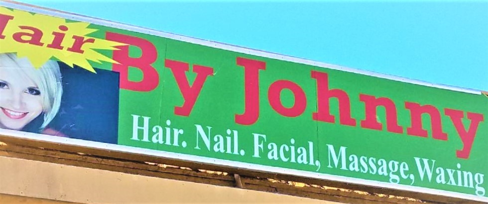 Hair By Johnny Outdoor Billboard Sign